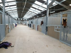 The development includes 60 new stables in American style barns