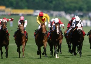 Croft Pool (centre) gives John Bell his sole Pattern win in the 1997 Temple Stakes