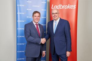 Carl Leaver, pictured with Ladbrokes' Jim Mullen, says racing is a declining product