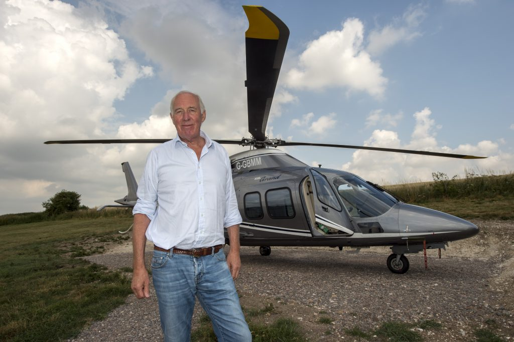Martyn Meade with his helicopter