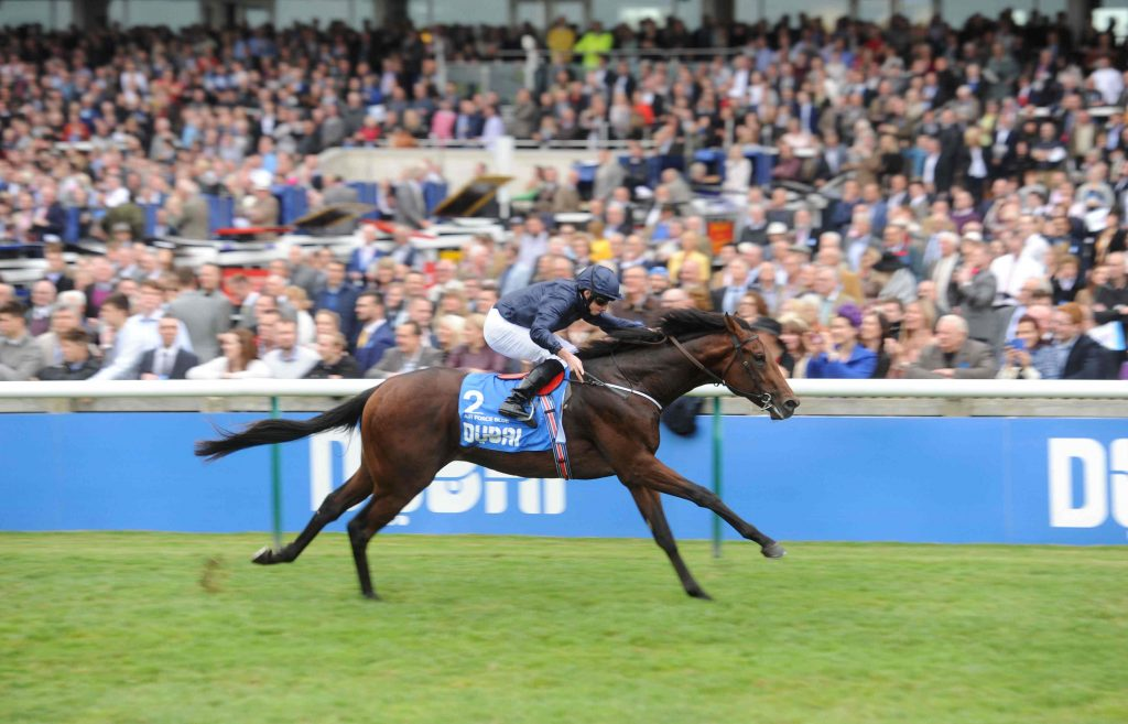 Air Force Blue flies home to land the Dewhurst Stakes