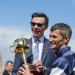 Jospeh O'Brien with the Melbourne Cup