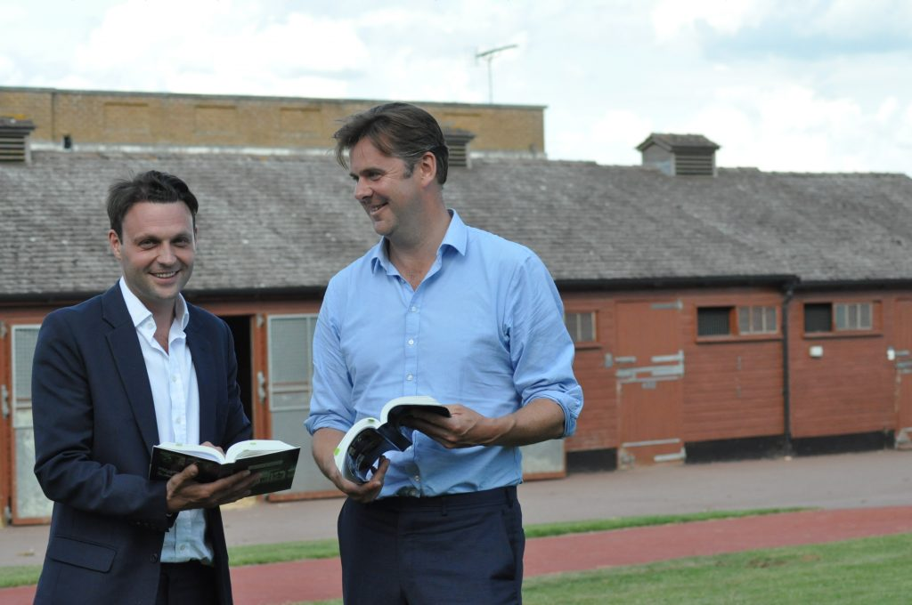 Bloodstock agents Ed Sackville and Alastair Donald