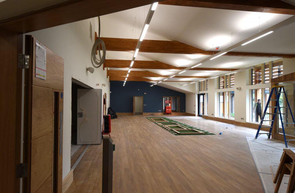 The gym at Peter O'Sullevan House