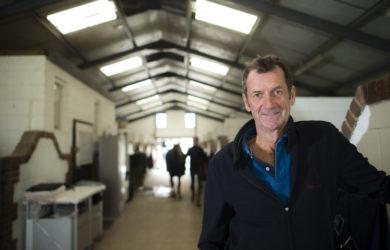 Sir Mark Todd at his stables