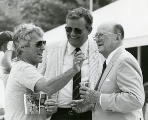 Singer/songwriter Burt Bacharach at Keeneland with Brownell and Leslie Combs