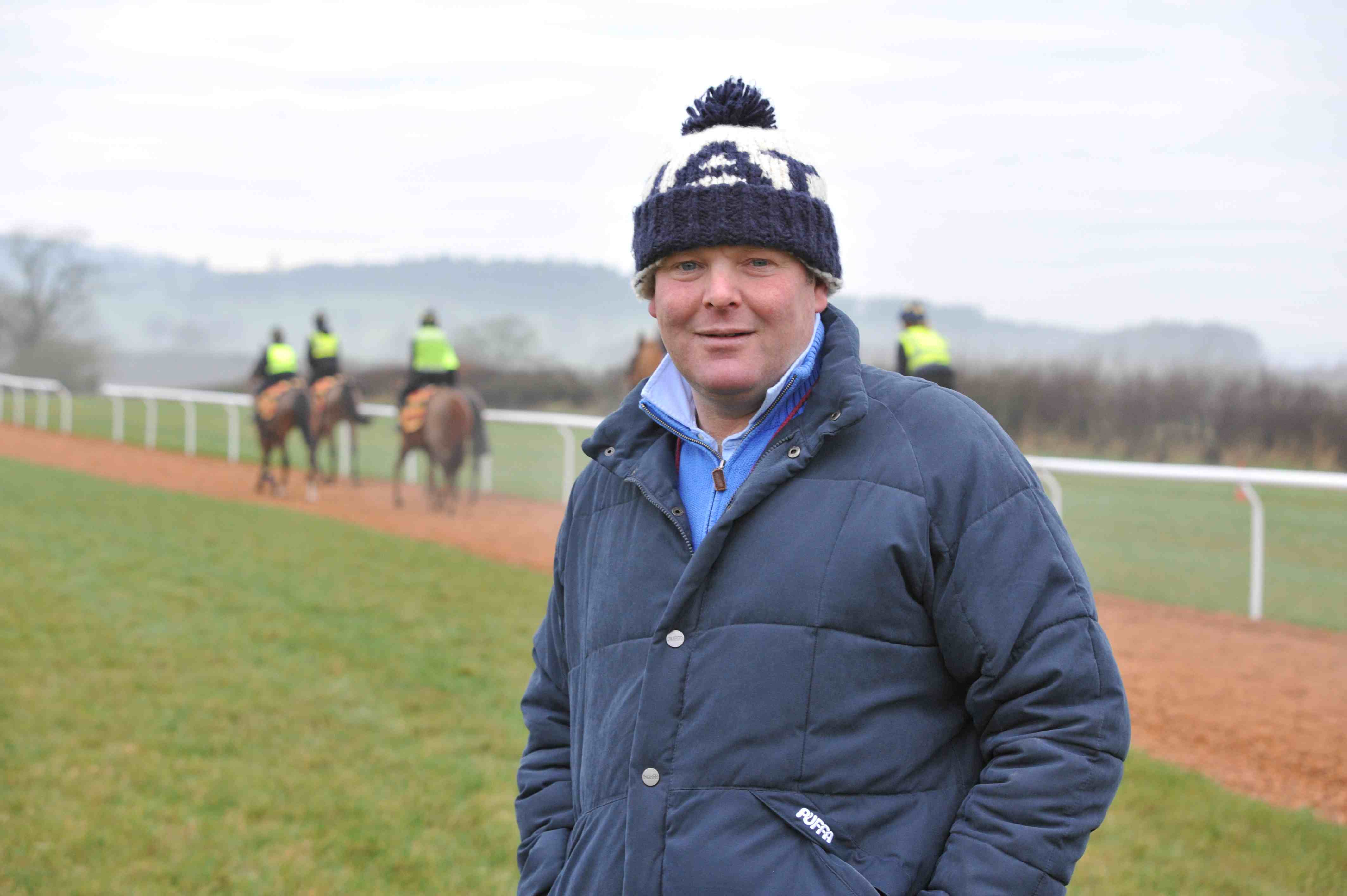 David Loder is happy with his life as a National Hunt trainer