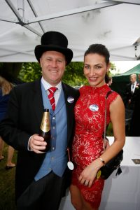 Trainer Danny O'Brien with his wife Nina