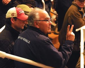 Paul Makin opens the bidding at 2m gns in his trademark flamboyant style