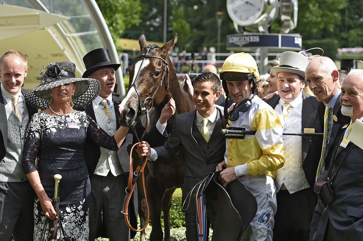 Happy connections of Quiet Reflection in the winners enclosure following her Group 1 success