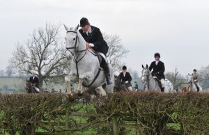 Darley's Director of Stallions Sam Bullard out with the Cottesmore